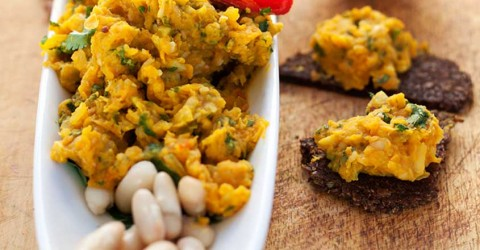 Spiced Carrot and White Bean Dip