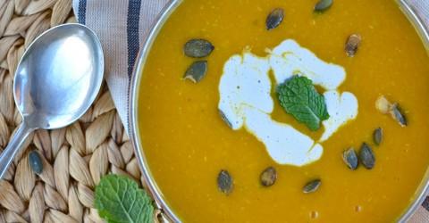 Butternut Squash Soup With Lentils