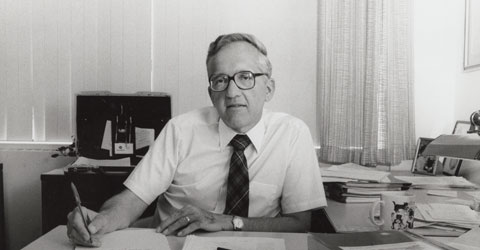 T. Colin Campbell at his desk