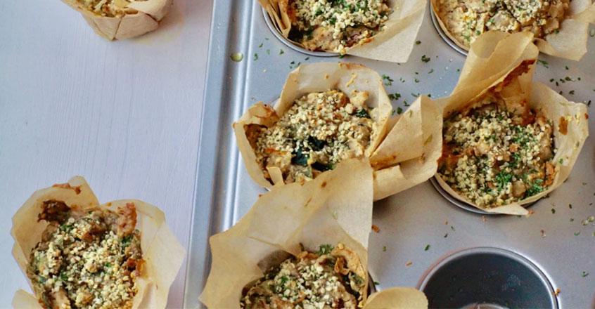 Rainbow Chard & Tofu Vegan Muffins