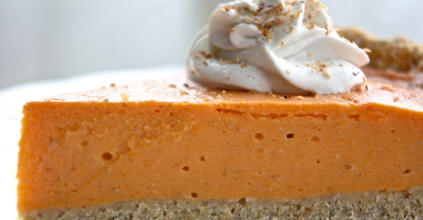 Vegan Sweet Potato Pie With Chia Oat Crust Recipe