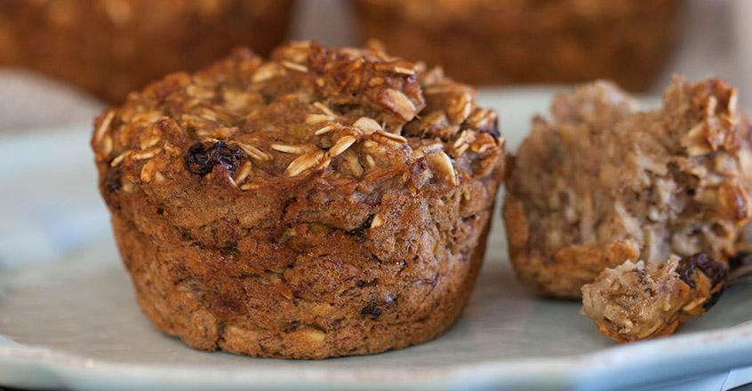 Muffins de avena para el desayuno