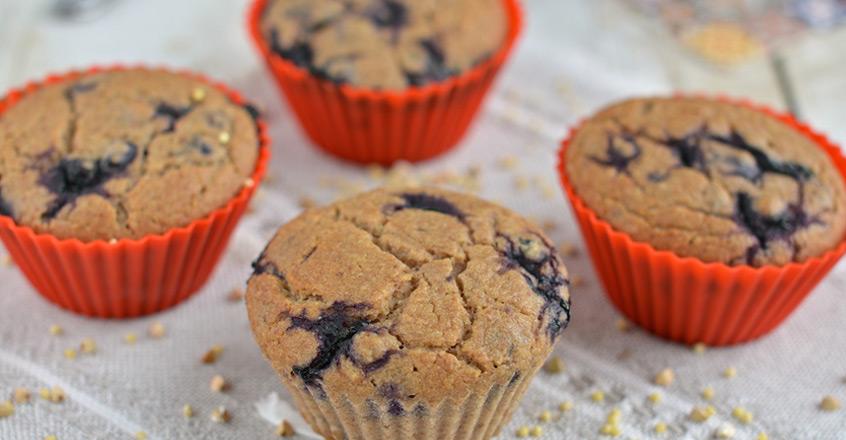 Muffins de arándanos azules