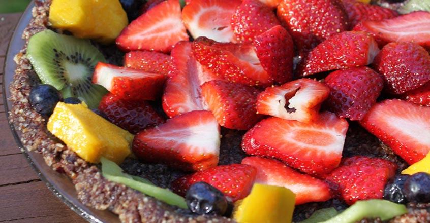 Pastel de frutas y dátiles, increíblemente delicioso
