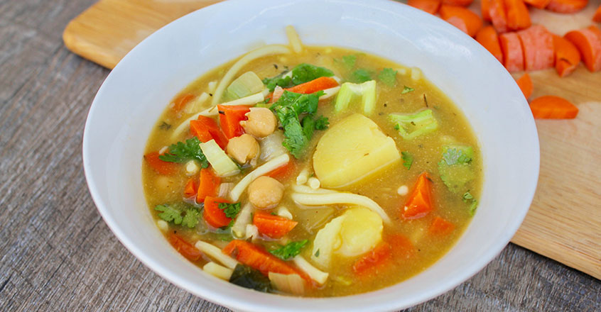 Chickpea Noodle Soup Comforting Chickpea Noodle Soup