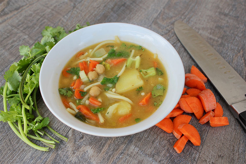 Comforting Chickpea Noodle Soup