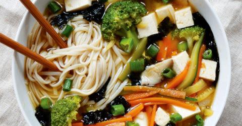 Loaded Miso Noodle Soup
