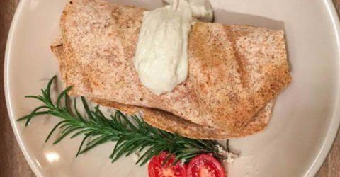 Lentil and Mushroom Burrito