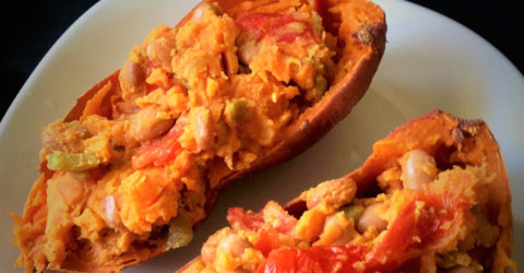 Savory Southwestern Stuffed Sweet Potato