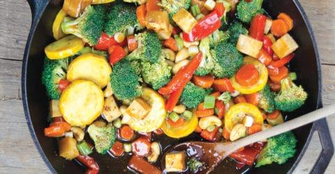 Salteado de vegetales con salsa teriyaki