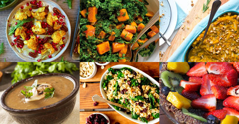Ideas Ideas para el menú de Acción de Gracias de alimentos basados en plantas, más consejos y trucosde recetas para el Día de Acción de Gracias con un menú completo de alimentos basados en plantas sin procesar