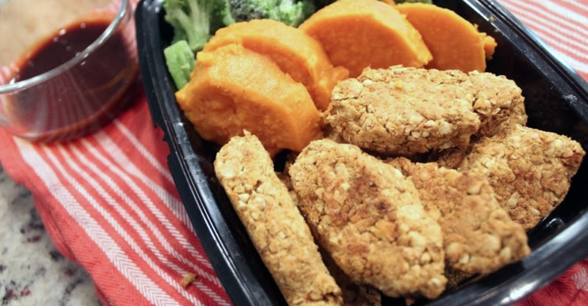 Chickpea Tenders With Flaxseeds