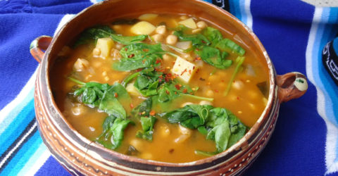 Spinach and Garbanzo Bean Soup