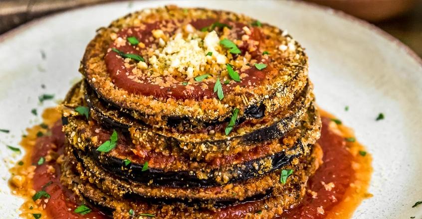 "Vegan Eggplant ""Parmesan"""