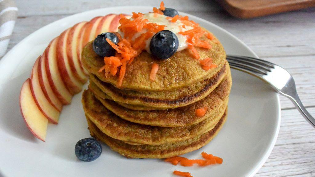 Panqueques de zanahoria y avena-1