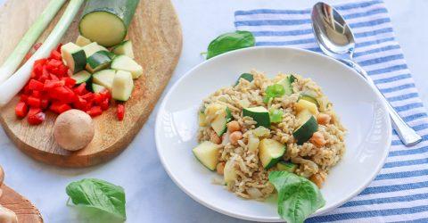 Chickpea and Mushroom Rice