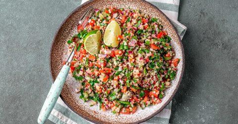 Quinoa & Carrot Top Tabouli